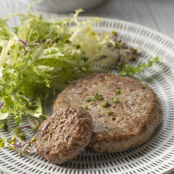 HAMBURGUESA DE MAGRET D´ÀNEC amb Foie-gras i figa 120 gr. (2 UN.)